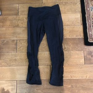 Lululemon black leggings with detailing